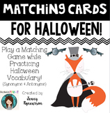 Dollar Deal! Halloween Matching Cards / Partnership Slips! ~Synonyms & Antonyms~