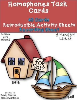 Dollar Deal! Homophones Task Cards {2nd 3rd} Common Core