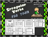 Dollar Deal! Irregular Verbs Fab Tabs Common Core
