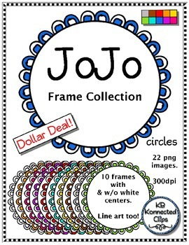 Dollar Deal! JoJo Frame Collection - circles