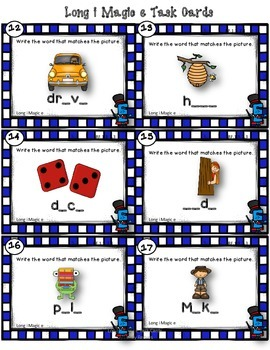 Dollar Deal! Long i Magic e {40 Task Cards} Printables CCSS