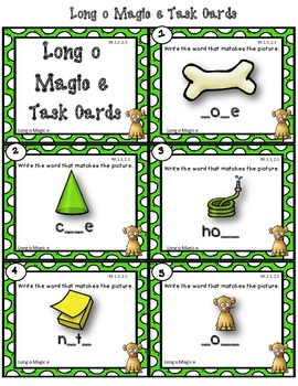 Dollar Deal! Long o Magic e {40 Task Cards} Recording Sheets and More!