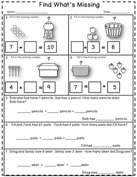 Dollar Deal! Missing Addends Task Cards, Scoot {Sums to 10}