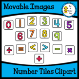 Dollar Deal!! Movable (Moveable) Images-Rainbow Brights Number Tiles Clipart