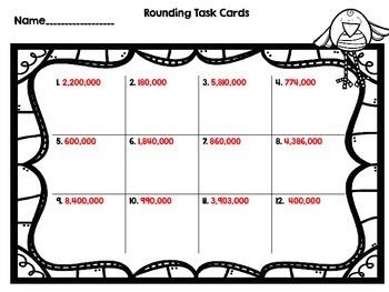 Dollar Deal Number Sense Bundle-Five Sets of Task Cards for $4!