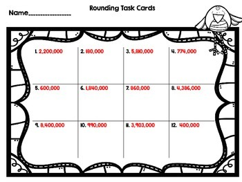 Dollar Deal-Rounding Through Millions -12 Task Cards-With and Without QR Codes