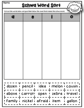 Dollar Deal! Schwa Task Cards {40 Cards, Recording Sheet, Printables}