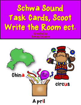 Dollar Deal! Schwa Task Cards {40 Cards, Recording Sheet,