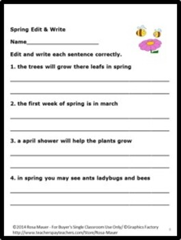 Spring Theme Edit and Write