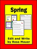 Spring Theme Edit and Write for Activities for Kids