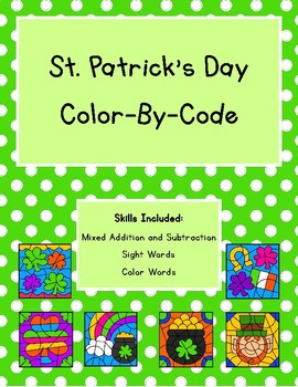Dollar Deal: St. Patrick's Day Color-By-Code