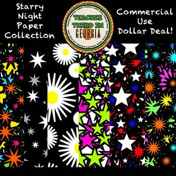 Dollar Deal! Starry Night Background Papers