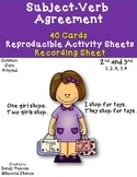 Dollar Deal! Subject-Verb Agreement 40 Task Cards and More! CCSS