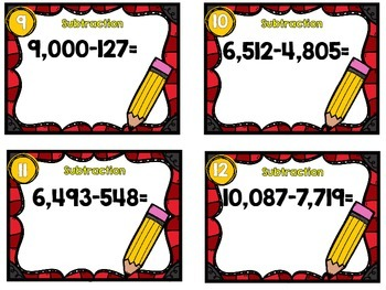 Dollar Deal-Subtraction -12 Task Cards-With and Without QR Codes