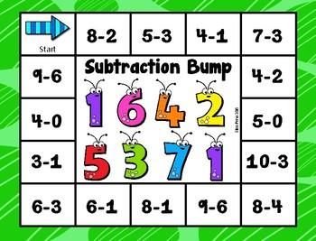 Dollar Deal!!!  Subtraction Bump Game