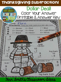 Thanksgiving Color By Numbers Thanksgiving Math Subtractio