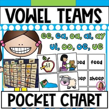 DOLLAR DEAL! Vowel Teams Pocket Chart  (ee,ea,ai,ay,oo,ue,ui,oa,oe)
