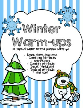 Dollar Deal - Winter Grammar Warm-Ups (10 pages)
