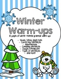 Dollar Deal - Winter Grammar Warm-Ups (10 pages)