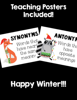 Dollar Deal! Winter Matching Cards / Partnership Slip! ~Synonyms & Antonyms~