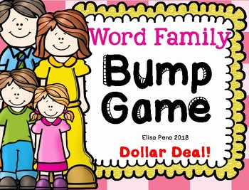 Dollar Deal!!!  Word Family Bump Game