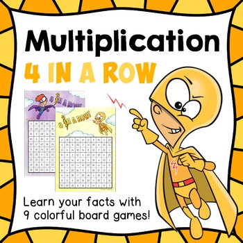 "Multiplication games ""4 in a row"" / connect 4 _ facts 2 - 10"