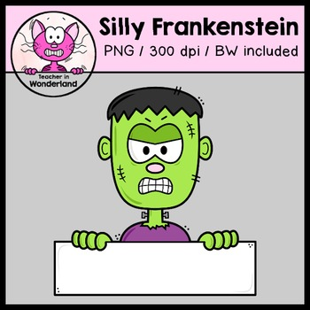 SILLY FRANKENSTEIN TOPPERS /PEEKERS clipart for halloween