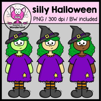 SILLY HALLOWEEN clipart