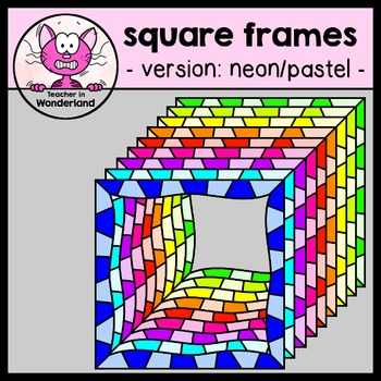 """funky square frames """"MEGA PACK"""" 88 images"""