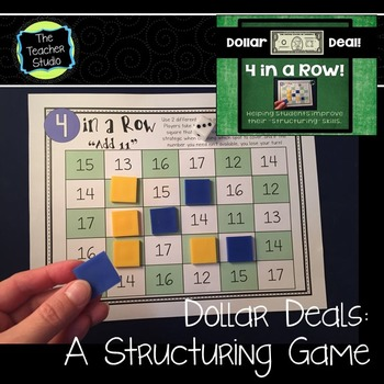 "Dollar Deals:  ""4 in a Row"" A Structuring Game to teach Number Sense"