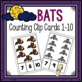 Dollar Deals! Bats Counting Clip Cards 1-10