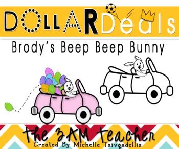 Dollar Deals Clip Art: Brody's Beep Beep Bunny
