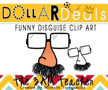 Dollar Deals Clip Art: Funny Disguise