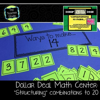 "Dollar Deals:  ""Combinations to make..."" decomposing numbe"