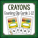 Dollar Deals! Crayons Counting Clip Cards 1-12
