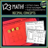 1 2 3 Math: Decimal Estimation and Addition Game, Practice, and Assessment