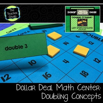 "Dollar Deals:  ""Double Trouble"": An addition doubles bingo game"