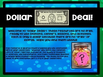 "Dollar Deals:  ""Estimation Station"": Using Estimation Jars"