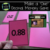 """Dollar Deals:  """"Make a One"""" An Addition of Decimals Memory Game"""