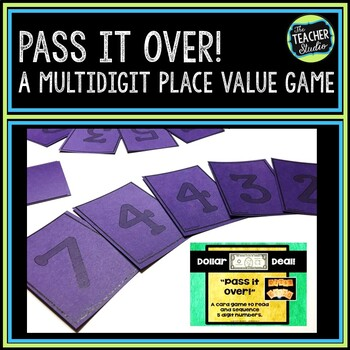 """Dollar Deals:  """"Pass it Over"""" Place Value game"""