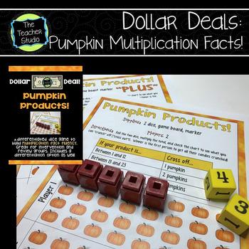 "Dollar Deals:  ""Pumpkin Products"": A Multiplication Fact Fluency Game"