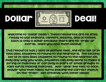 Dollar Deals:  Rounding Dominoes