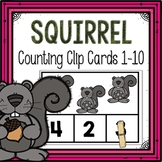 Dollar Deals! Squirrel Counting Clip Cards 1-10