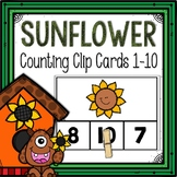 Dollar Deals! Sunflower Counting Clip Cards 1-10