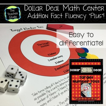 """Dollar Deals:  """"Target Number"""": A Game to Build Addition F"""