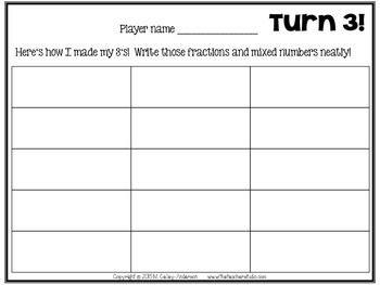 """Dollar Deals:  """"Turn 3"""" An Addition of Fractions Memory Game"""