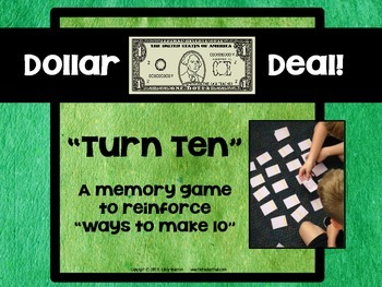 "Dollar Deals:  ""Turn Ten"" A Memory Game"