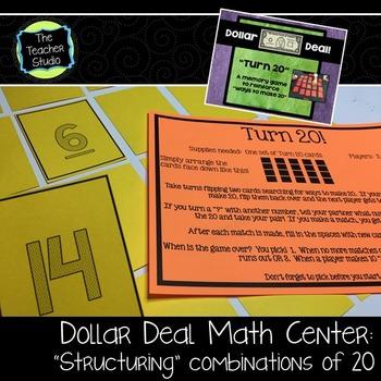 """Dollar Deals:  """"Turn Twenty"""" A Memory Game"""