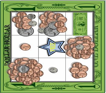 Dollar Hollar Bingo Game
