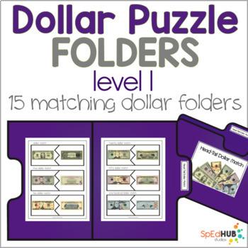 Dollar Puzzle File Folders - Level 1